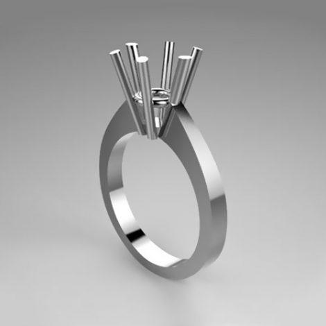 Montatura per anello solitario 42-F