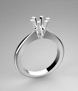 Montatura per anello solitario 6810-5929-SMALL