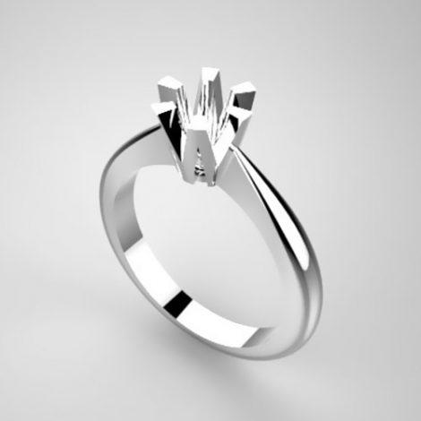Montatura per anello solitario 6810-UNI