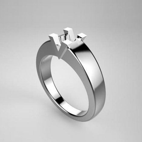 Mounting solitaire ring 7375-SMALL