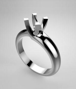 Montatura per anello solitario 7390-UNI