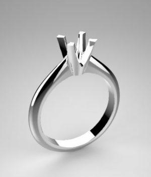 Montatura per anello solitario 7484-ECO