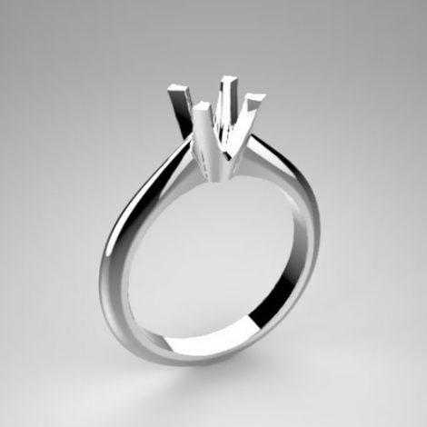 Montatura per anello solitario 7484-SMALL