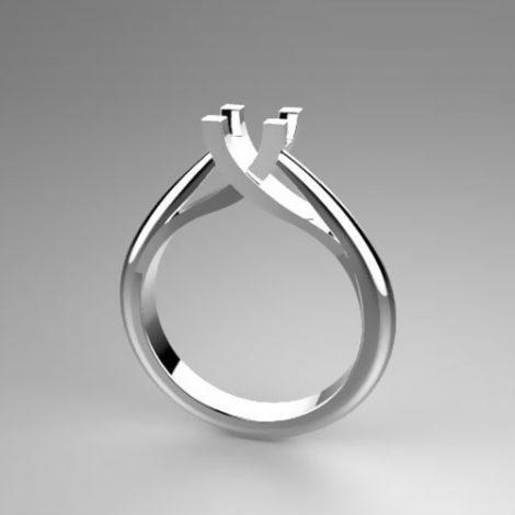Montatura per anello solitario 7538