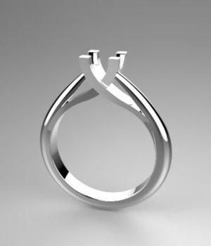 Montatura per anello solitario 7538-SMALL