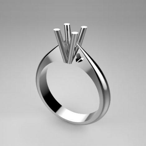 Montatura per anello solitario 7539-UNI