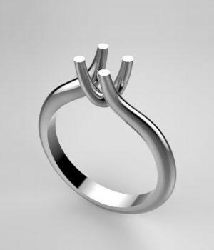 Montatura per anello solitario 7742-UNI