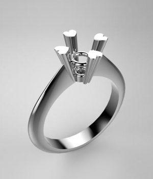 Montatura per anello solitario 7860-UNI