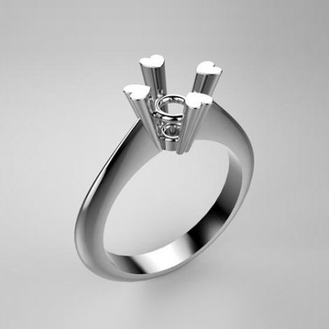 Mounting solitaire ring 7860-UNI