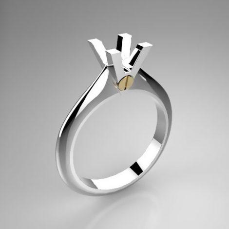 Montatura per anello solitario 7947-SMALL