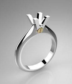 Montatura per anello solitario 7947-UNI