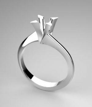 Montatura per anello solitario 8003-SMALL