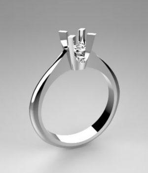 Montatura per anello solitario 8009