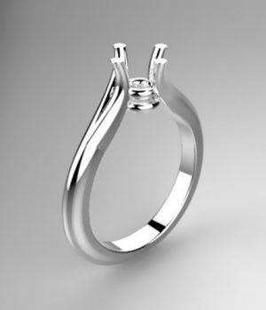 Montatura per anello solitario 8029-SMALL