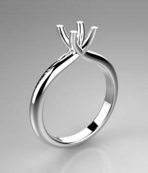 Montatura per anello solitario 8053-SMALL
