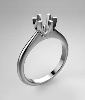 Montatura per anello solitario 8057