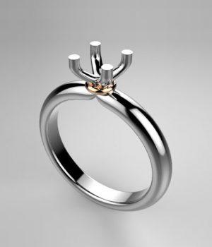 Montatura per anello solitario 8090-25-SMALL
