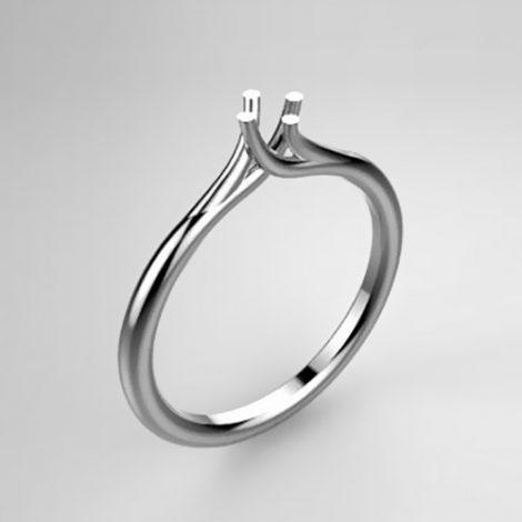 Montatura per anello solitario 8123-UNI