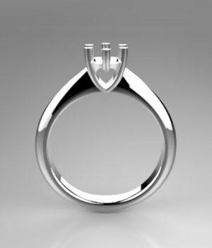 Montatura per anello solitario 8184-SMALL