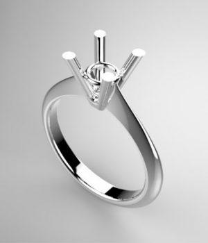Montatura per anello solitario 8239-ECO