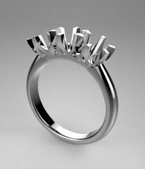 Montatura per anello trilogy 8058-SMALL