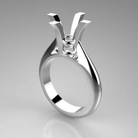 Montatura per anello solitario 7837-UNI-BIG