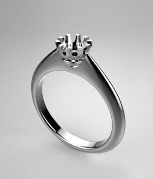 Montatura per anello solitario 8180-SMALL